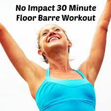 30 minute no impact total body floor barre workout lengthen and