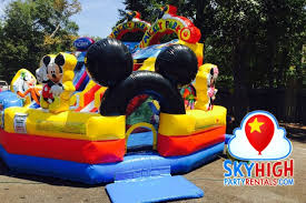 bounce house rentals houston mickey playzone toddler water slide sky high party rentals