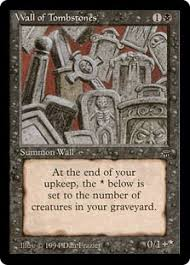 pictures of tombstones wall of tombstones legends gatherer magic the gathering