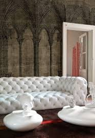Gordon Tufted Chair Leather Chesterfield Sofas Foter