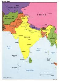 Map Of The Asia by Large Detailed Political Map Of South Asia With Major Cities And