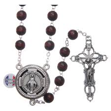 wooden rosary wooden rosary burgundy with talking center pope online