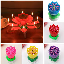 spinning birthday candle spinning candle birthday rotating flower cake topper party ebay