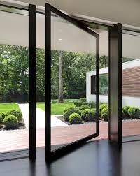 entryway ideas pivot doors modern design