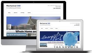 hvac website design u0026 development mec designs