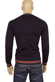 fitted sweater mens designer clothes gucci mens v neck fitted sweater 20