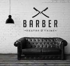 unisex hair scissors salon hairdresser beauty barber shop wall art cheap decoration murale buy quality vinyl wall art decals directly from china shop stickers suppliers man barber shop sticker name chop bread decal