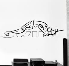 aliexpress com buy 10 designs swimmer swimming sports wall