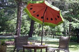 Patio Furniture Umbrella Paint A Watermelon Pattern On Your Outdoor Umbrella How Tos