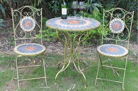 outdoor mosaic bistro table classic outdoor mosaic bistro table and chairs set wholesale yiwu