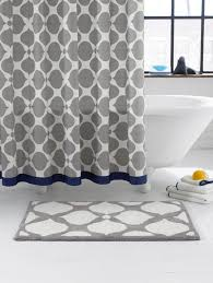 Navy And Grey Curtains Design Ideas Navy And Grey Shower Curtain From Jonathan Adler