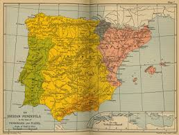 Spain On A Map Cambridge Modern History Atlas 1912 Perry Castañeda Map