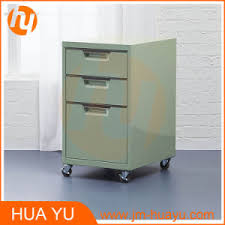 Rolling Metal Cabinet China Colorful Office Furniture 3 Drawers Rolling Metal Storage
