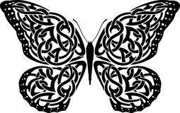 celtic tattoos of black butterflies stock vector illustration of