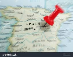 A Map Of Spain by Closeup Map Spain Red Push Pin Stock Photo 157048712 Shutterstock