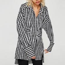 Black And White Plaid Shirt Womens Plaid Shirt Dress Plaid Shirt Dress Tshirt Plaid Shirt Dress Short