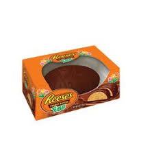 reese s easter bunny solid milk chocolate easter bunny with butterfinger pieces 5 5oz