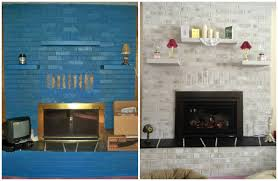 Brick Fireplace Paint Colors - before and after painted brick fireplace brick anew blog