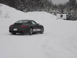 porsche 911 snow porsche camp4 canada offers winter driving excitement openroad