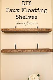 How To Make A Floating Nightstand Diy Faux Floating Shelves Small Bathroom Shelves And House