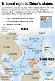 China Sea Map by China Repeats Claim On South China Sea Despite Court Ruling