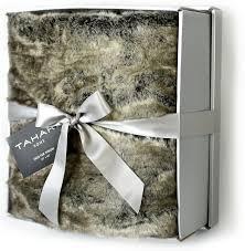 Leopard Print Faux Fur Throw Amazon Com Mink Faux Fur Throw By Tahari Home Luxury Plush