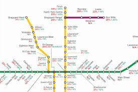 Up Map Map Shows How Much Toronto Condo Prices Have Gone Up By Ttc Stop