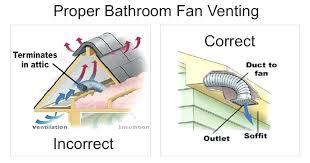 insulation around bathroom heater fan bathroom vent fan better insulation will prevent water stains around