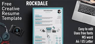 cool free resume templates for word rockdale creative resume template