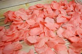 silk petals roseate pink coral silk petals confetti for weddings in