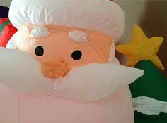 Inflatable Polar Bear Christmas Decorations by Airblown Inflatable Santa On A Polar Bear Christmas Decoration