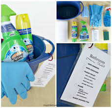 bathroom cleaning kit with printable checklist my pinterventures