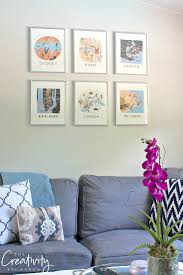 2017 rifle paper framable wall calendars are out rifle paper company cities calendar framed into a gallery wall