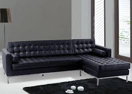 Contemporary Black Leather Sofa Furniture Contemporary L Shaped Grey Chaise Lounge Leather Sofa