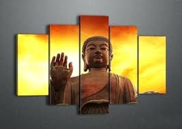 Oil Painting Meme - large buddha wall decor framed 5 panel large wall art oil painting