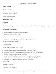 Sales Sample Resume by Manufacturing Resume Template U2013 26 Free Samples Examples Format