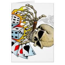 skull greeting cards zazzle