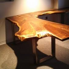 Walnut Live Edge Table by Handcrafted Live Edge Furniture Woodrich Pa