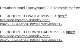 download hotel transylvania 2 2015 movie free patty