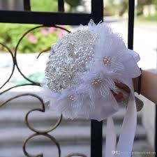 wedding flowers dublin new design white satin bridal bouquets bling bling