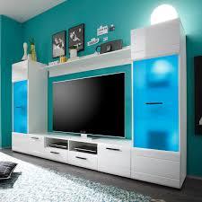 Wohnzimmerschrank In Bielefeld Wohnwand Switch Mediawand Anbauwand In Weiß Hochglanz Inkl Led Ebay