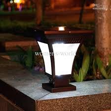 brightest solar l post light bright solar landscape lights Bright Solar Landscape Lights