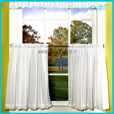 White Cafe Curtains Home Textile Products Cafe Curtains