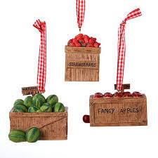 kurt adler resin fruit crate ornament set of 3 7870670 hsn