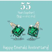 55th wedding anniversary fax potato 55th wedding emerald anniversary card