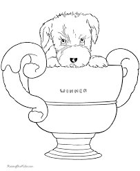 puppy dog coloring book pages