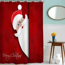 Santa Curtains Compare Prices On Christmas Shower Curtains Online Shopping Buy