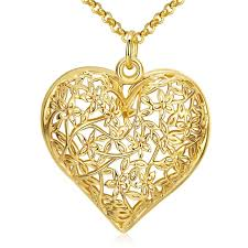 necklace pendants heart images 2017 hot new design gold color hollow heart pendant necklace jpg