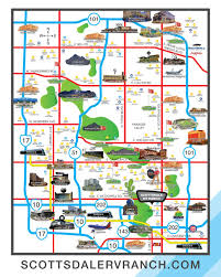 Scottsdale Fashion Square Map Rv Park Scottsdale