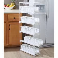 kitchen cabinet storage target lakeside slim kitchen storage with five slide out drawers for pantries gaps bathrooms